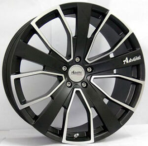 20x8.5 COMMODORE VE VZ VY VX VT ADVANTI TOURER BLACK RIMS & TYRE PACKAGE