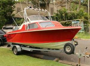 Mustang 18ft 6in Fishing Boat 5.65m Cabin Furuno 120hp Evinrude Camp Hill Brisbane South East Preview