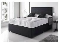 🐩🐩 Premium Quality High Quality Plain Fabric Divan on Clearance 🐩🐩