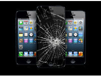 iPhone Cracked Broken Screen Digitizer Touch LCD Repair Service Replacement