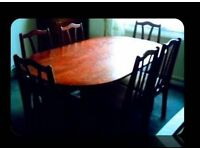 OVAL DINING TABLE & SIX CHAIRS - FOR SALE