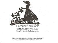 Gardener Available