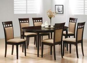 Brand New - 5pc Oval Dining Table + 4 Chairs