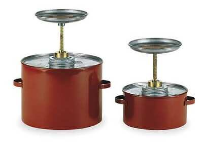 EAGLE P701 Plunger Can,1 qt.,Galvanized Steel,Red