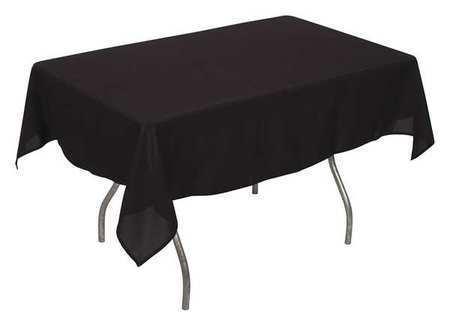 PHOENIX PL5296-BK Tablecloth,Rectangle,52x96in,Black