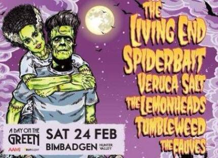 2 x Day on the Green tix - Bimbadgen, Sat 24th Feb - Living End