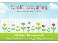 Sarah's Babysitting