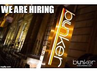 Trainee Manager position at Bunker bar