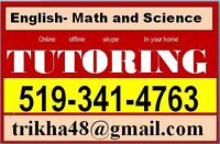 Customized tutoring package in Math and Science
