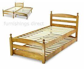 Soild oak single bed