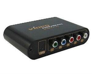 LENKENG Component Video (YPbPr) to Composite Video and S-video C