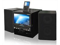 "Stereo Hi-Fi system with 7"" Screen Digital TV / DVD / CD / Radio / USB / iPod dock"
