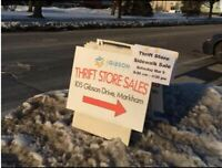 SIDE WALK SALE at 105 GIBSON THRIFT STORE April 27th