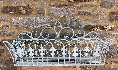 Window Box Basket - Victorian Style Wall Basket Flower Planter Window Box Metal Trough Garden