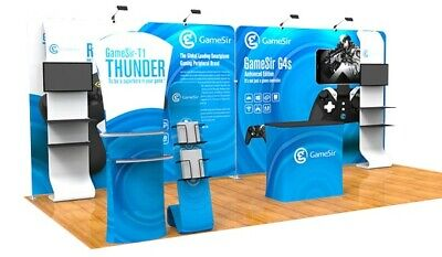 Downing Portabletradeshow Booth Exhibit Pop Up Display Kit
