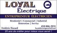 Loyal Électrique - Entrepreneur Électricien - Lanaudière