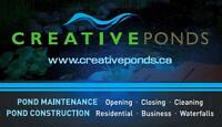 POND CLOSING / CLEANING - CONSTRUCTION - SERVICE & MAINTENANCE