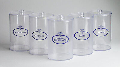 UNBREAKABLE Clear Plastic SUNDRY JARS SET 5 With Lids Plastic Sundry Jars