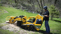 Large scale stump grinding
