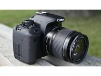 CANNON 650D with carry case, 2 lences, tripod, charger and battery