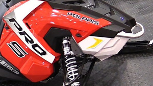 Polaris Axys Red Side Panels and White Nose Cone