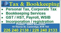 Bookkeeping, Personal and Corporate Tax