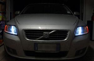 LED-POSIZIONE-VOLVO-C30-C70-S40-S60-V50-V60-W5W-NO-ERROR-WHITE-CANBUS-XENON
