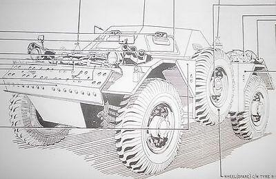 Daimler Ferret.MK1.Stowage sketches.