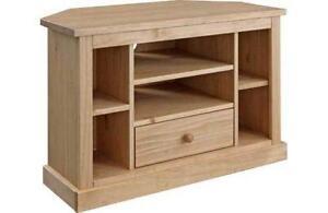 pine tv unit ebay. Black Bedroom Furniture Sets. Home Design Ideas