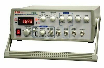 Rsr Sweep Function Generator .5 Hz 3 Mhz With 5 Digit Led Display
