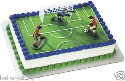NEW CAKE TOPPER KIT SOCCER MLS BOY GIRLS BIRTHDAY PARTY CUPCAKE FAVORS BC - Soccer Cupcake Toppers