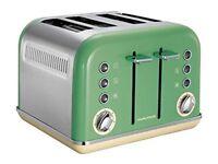 Morphy Richards 242006 Retro 1800W 4 Slice Wide Slot Toaster - Green