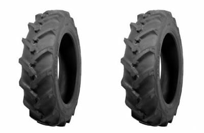 Two Atf Brand 7-16 R-1 Lug Tractor Tires Tubes Heavy Duty 6ply Rated