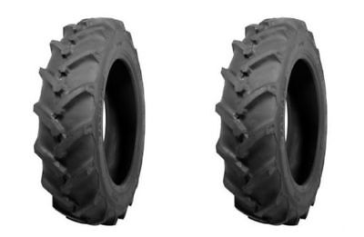 Two Atf Brand 9.5-16 R-1 Lug Tractor Tires Tubes Heavy Duty 6ply Rated
