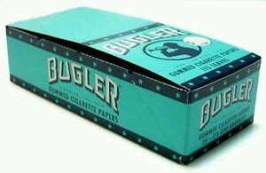 Bugler Cigarette Rolling Papers 24 Packs Booklets Box- 115 Lvs. free lighter