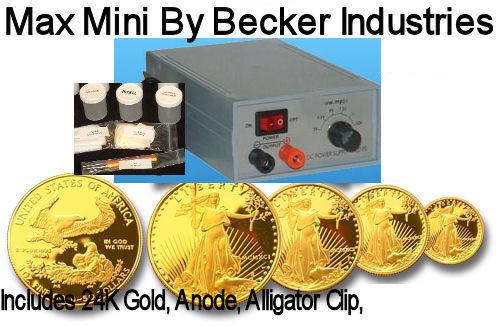 24kt Gold/Silver Electroplating kit, Gold plating machine