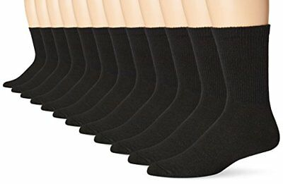 ecff4a3e2b24 Hanes Calcetines Hombre Paquete de 12 Freshiq Crew Calcetines Negro 10-13