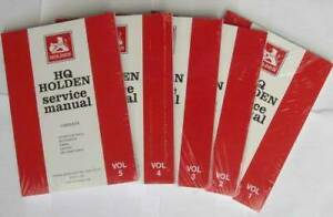 Holden HQ 1971 - 1974 Service Manual (5 Volume Set) Blacktown Blacktown Area Preview