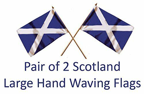 Pair of Scotland Hand Flags St Andrew