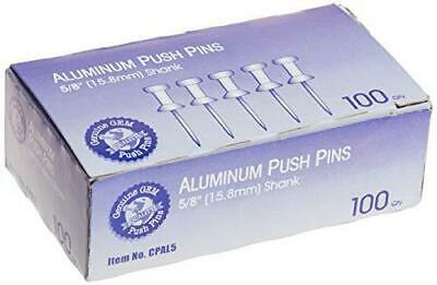 Advantus Aluminum Head Push Pins Steel 58-inch Point Silver 100 Per Box