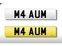 PERSONAL REGISTRATION FOR SALE IDEAL BMW M4 NUMBER PLATE - M4 AUM