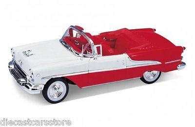 WELLY 1955 OLDSMOBILE SUPER 88 CONVERTIBLE RED 1/24 DIECAST CAR MODEL 22432