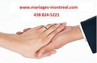 CÉLÉBRANT DE MARIAGES CIVILS- PRIX ABORDABLE - 438-824-5221