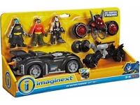 Fisher Price DC Super Friends Imaginext Includes Batman Robin Bane 3 Vehicles - CAN POST