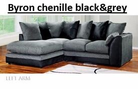 *** EXPRESS DELIVERY *** JUMBO/chenille/crushed velvet CORD CORNER SOFA IN DIFFERENT COLOURS