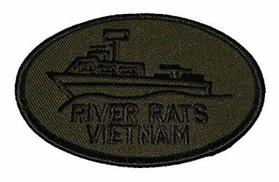 USN NAVY RIVER RATS VIETNAM PATCH PBR MRF SWIFT BOATS BROWN WATER NAVY
