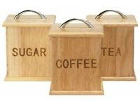 Oslo Traditional Wooden Storage Canisters (3 Piece Set)
