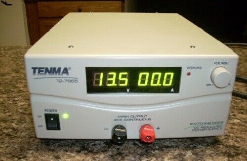New Tenma 72-7665 Switching Mode Power Supply 3-15VDC 40Amps Digital Sealed