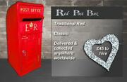 Red Wedding Post Box