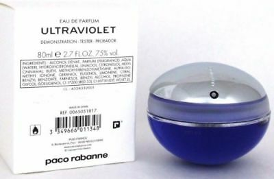 Ultraviolet By Paco Rabanne 2.7 Oz EDP Spray Brand New Tester Perfume For Women
